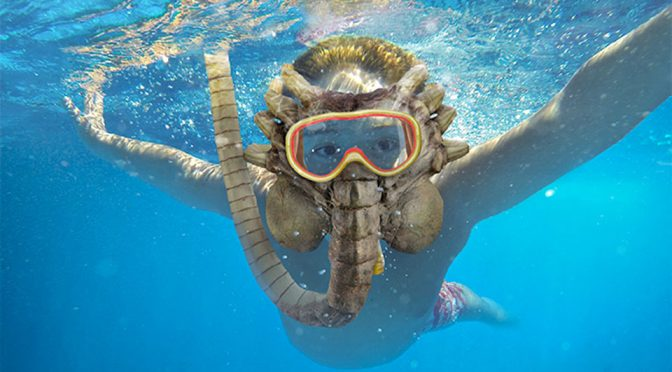 Alien Facehugger Snorkel Mask Because, <em>Aliens</em> Love The Sea?