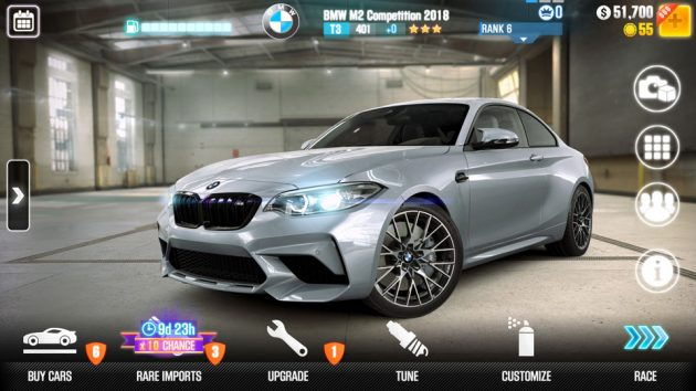 BMW M2 Competition CSR Racing 2 Mobile Game