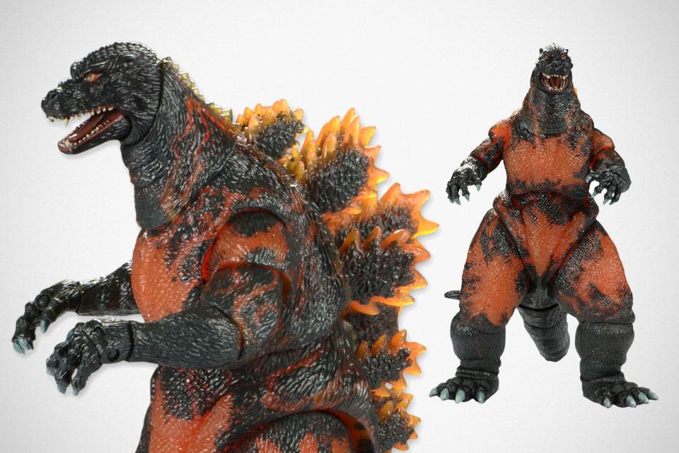 "NECA Classic 1995 Burning Godzilla Head to Tail Action Figure 12/"""