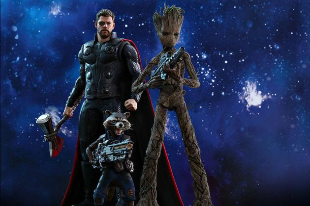 Hot Toys Avengers: Infinity War 1/6th Scale Groot and Rocket Collectible Figure