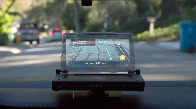 Hudly Wireless Head-up Display Lets You Drive Like A Fighter Pilot