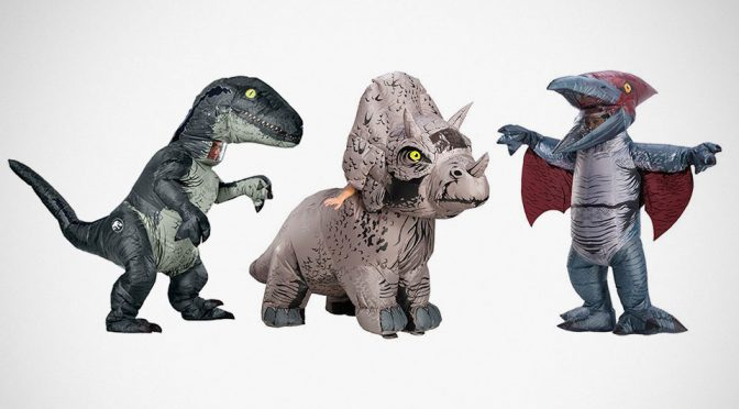 These Inflatable Dino Costumes Are Official <em>Jurassic World: Fallen Kingdom</em> Merchandises. Believe It
