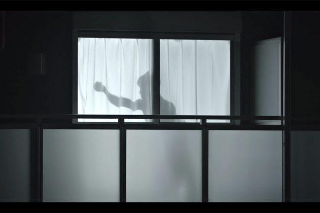 Man on the Curtain Casts Shadow on Curtain