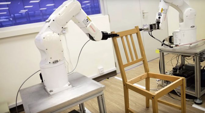 Tony Stark-style Robotic Arms Could Be Assembling Ikea Furniture For You