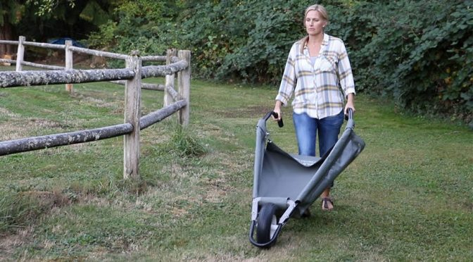 Tarp-based Wheelbarrow Is A Like A Giant Dustpan On Wheel