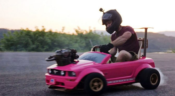 A Dirt Bike Motor Turned A Barbie Ford Mustang  Into A Drift Beast