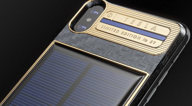 Caviar Solar-charging iPhone X Tesla For Elon Musk