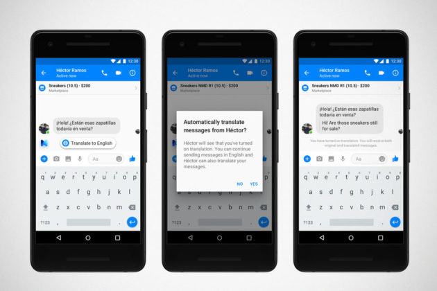 Facebook M Translation for Messenger