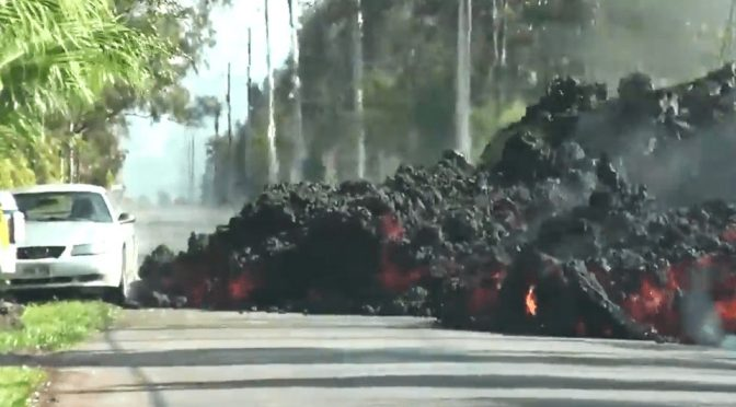Witness A Ford Mustang Being Swallowed By Molten Lava In Hawaii