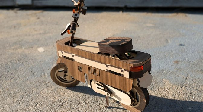 Sadly, This Wooden Honda Motocompo Is Not A Real Scooter