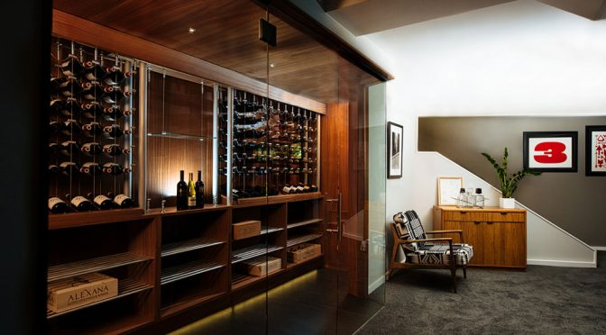 Sommi Custom Home Wine Room