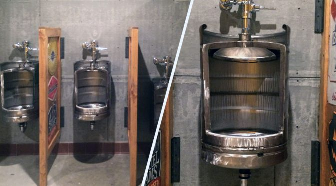 Urinal That Looks Like A Beer Keg Is A Must-Have For Any Man Cave!