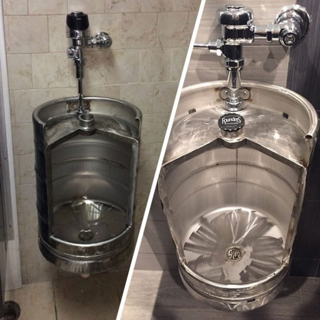 Stainless Steel Beer Keg Urinal