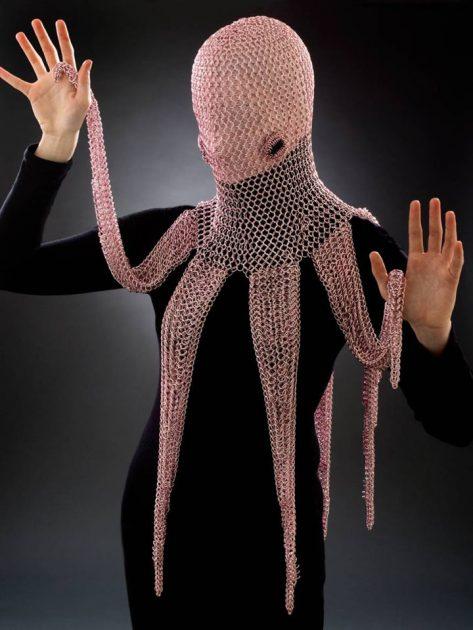 Vanessa Walilko Chainmaille Octopus Hood
