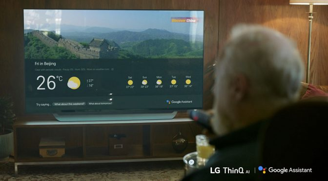 2018 LG Super UHD TV ThinQ with Google Assistant