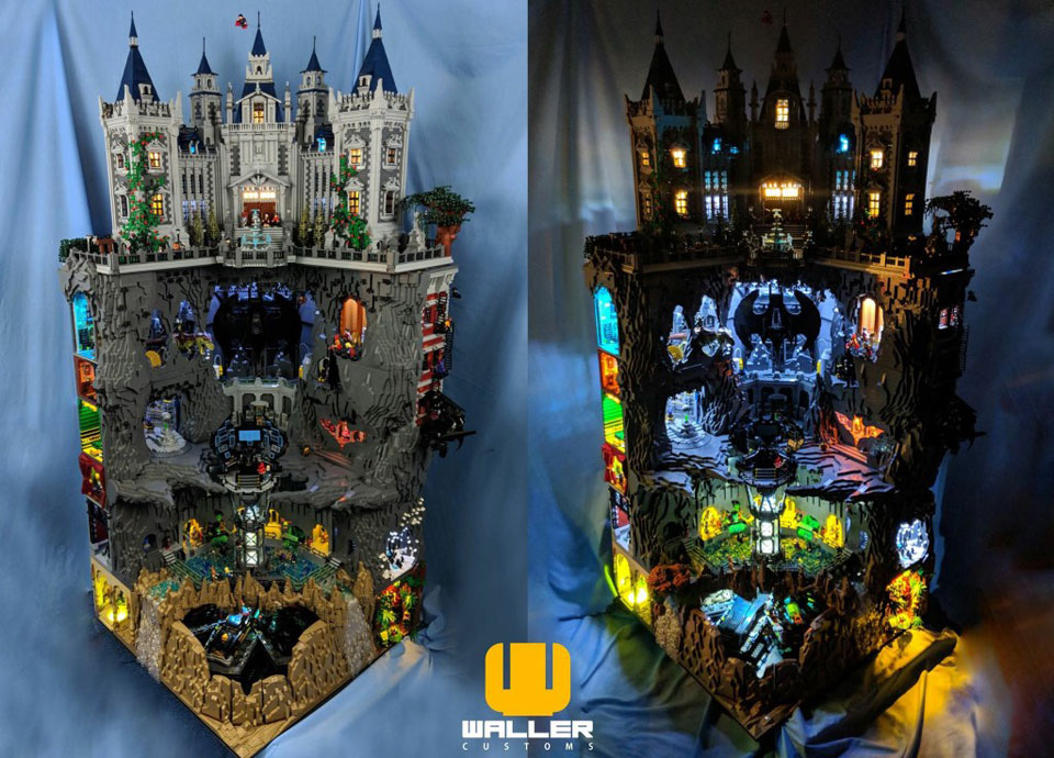 The Details In This 6' Tall Custom LEGO Batcave Will Blow ...