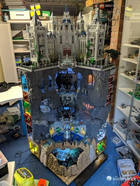 6-Foot Tall Custom LEGO Batcave and Wayne Manor