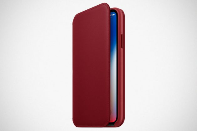 Apple (PRODUCT)RED iPhone X Leather Folio