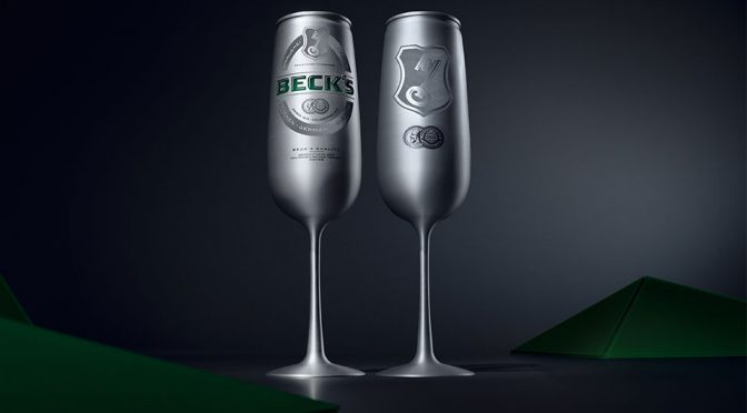 Beck's Champagne Glass-style Beer Can