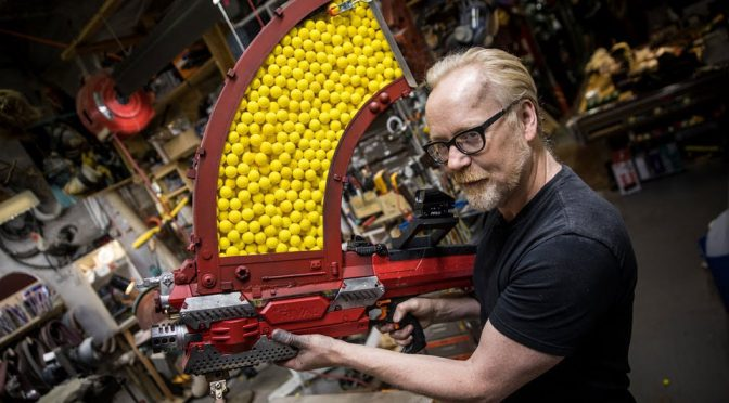 Adam Savage Turned A NERF Rival Nemesis Into A 1,000 Shot Beast