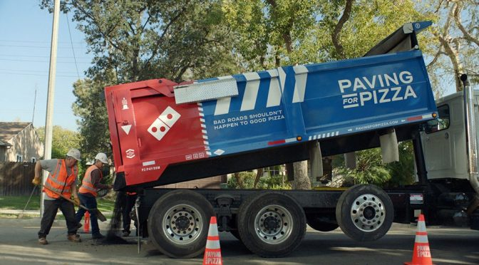 Domino's Pizza Paving For Pizza