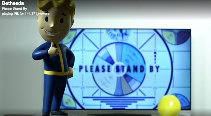 Fallout Bobblehead on Twitch Prior Fallout 76 Teaser