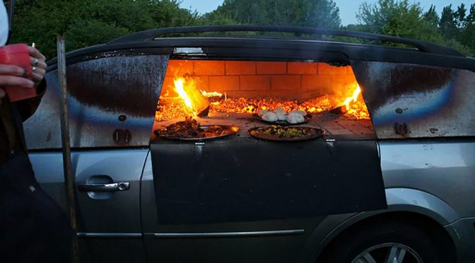 Artist Turning A Car Into A Pizza Oven Is Just About The Coolest Car Mod