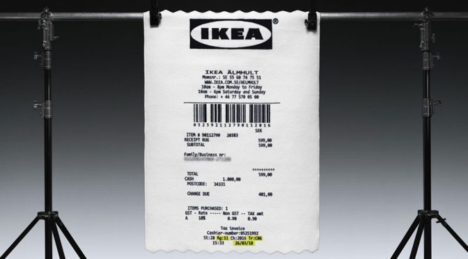 Virgil Abloh Designed An IKEA Receipt Rug For IKEA And I Want One Now!