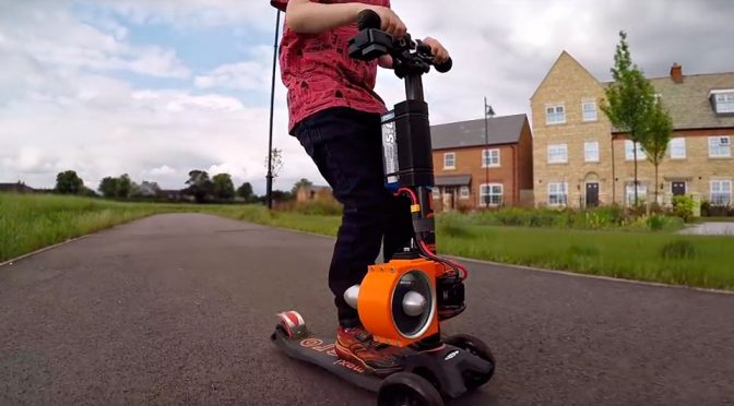 Jet Powered Micro Scooter by Colin Furze