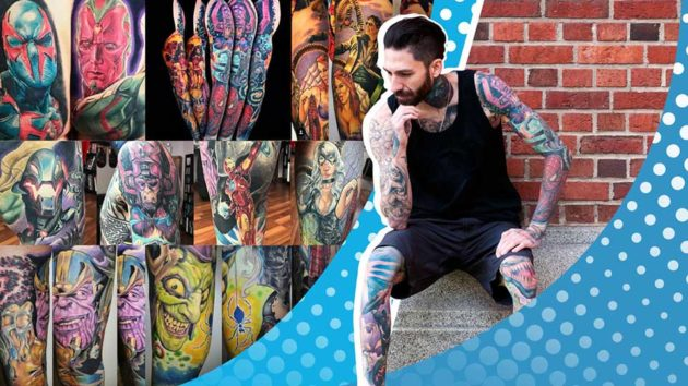 Most Marvel Comic Book Characters Tattooed on the Body