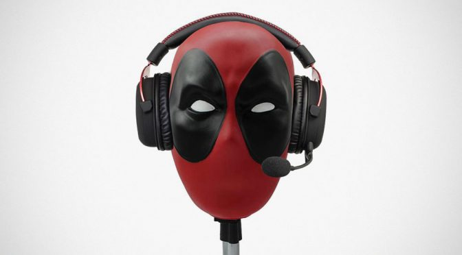 It's Official. Deadpool's Head Is Good For Headphones And VR Headset Too