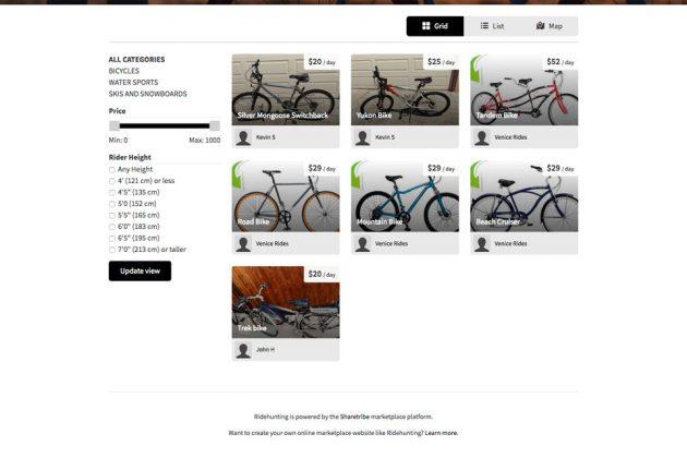 Ridehunting Peer-to-Peer Bikes And Gears