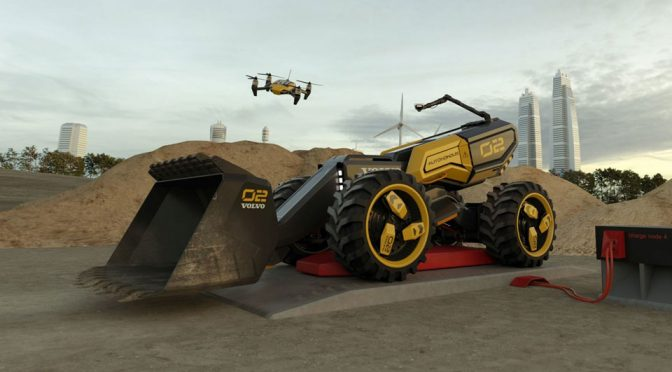 Volvo CE And LEGO Creates Concept Wheel Loader That Has A Drone