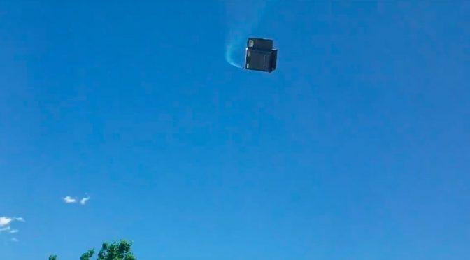 Windstorm Sends Porta-Potties Flying