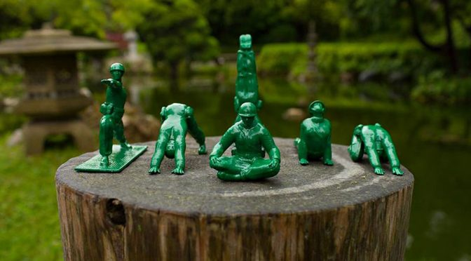 Oh, Look, Green Army Men Toys Ditched Weapons In Favor Of Yoga!