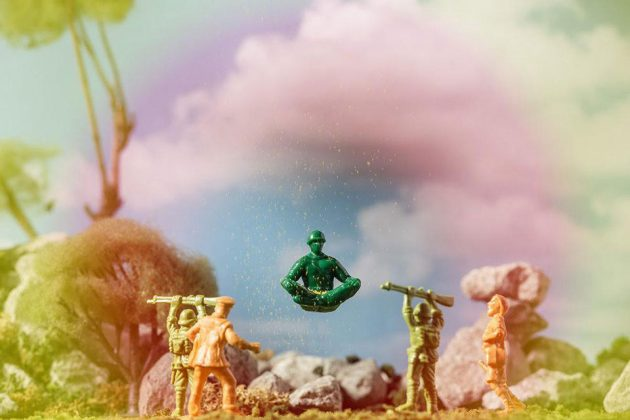 Yoga Joes Green Army Men Toys