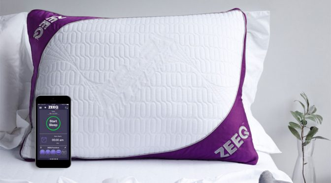 ZEEQ Smart Pillow Stops Snoring And Brews You Coffee Too