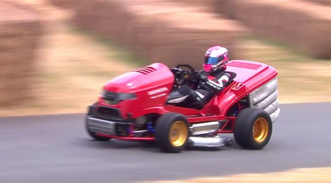 Watch The World S Fastest Lawn Mower Does The Goodwood Hillclimb