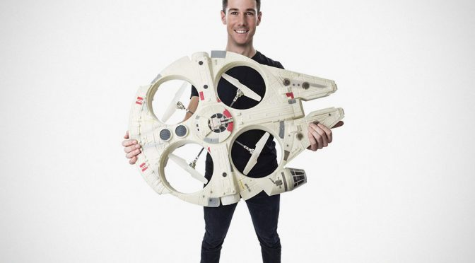 Air Hogs' Giant Size Millennium Falcon XL Drone Has Han And Chewie Onboard