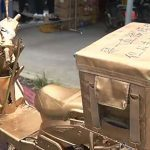 China Traffic Police Is Not Amused By Chinese Delivery Man's Golden Bike