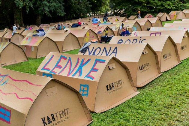 KarTent Cardboard Camping Tent