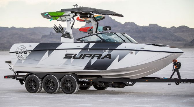 Ken Block Has A Custom Wakeboard Boat Called Supra Ford Raptor