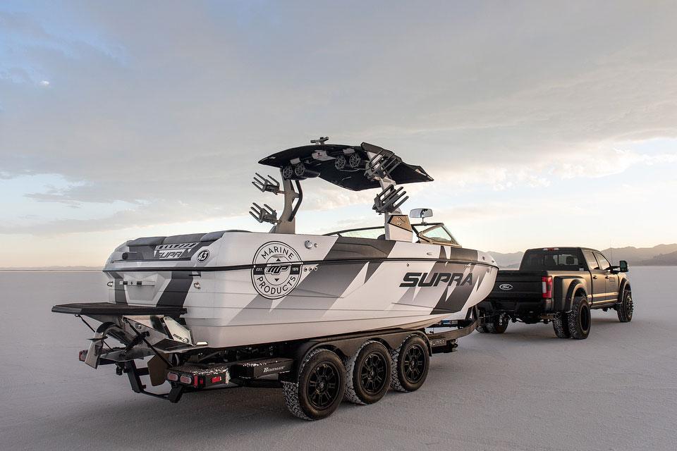 Ken Block Has A Custom Wakeboard Boat Called Supra Ford Raptor ... 874612741b