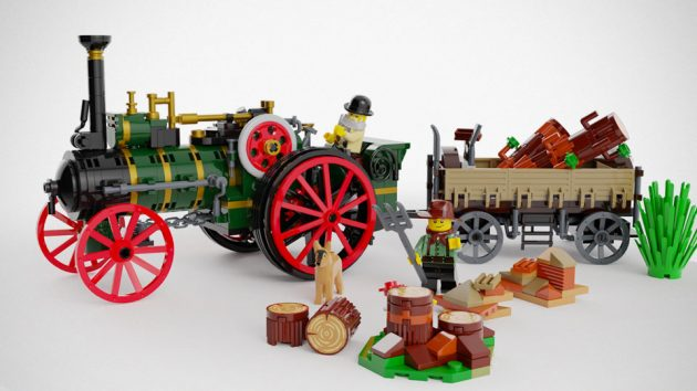 LEGO MOC The Old Workhorse Traction Engine