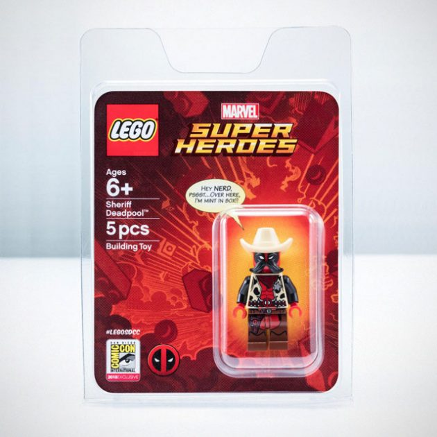 LEGO Sheriff Deadpool Minifigure SDCC 2018