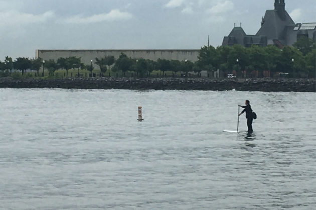Man in Suit Paddled Across Hudson River on Paddle Board