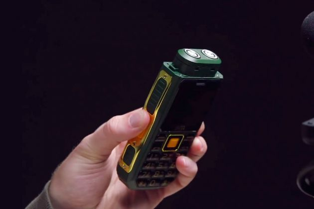 Mobile Phone with Built-in Shaver