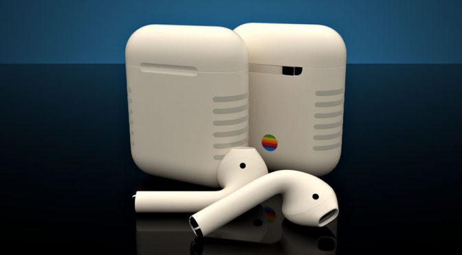 You Can Now Own A Pair Of AirPods With Retro Macintosh Look