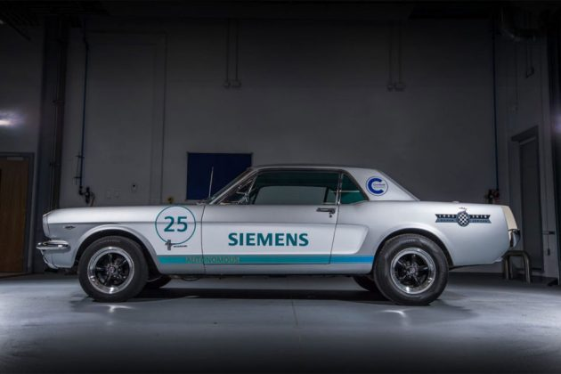 Self-driving 1965 Ford Mustang at Goodwood