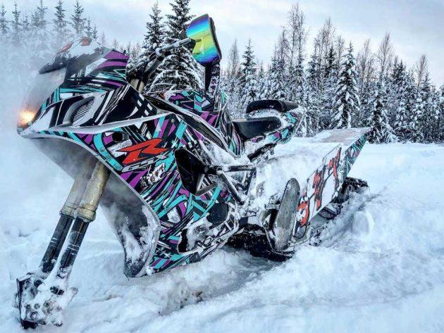 Suzuki 1000cc GSX-R Snow Bike